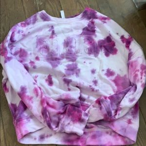 Custom tye dye fabletics crew neck